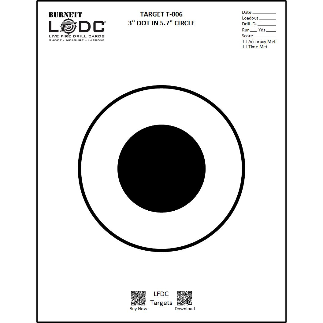 graphic about Printable Shooting Targets 8.5 X 11 referred to as T-006 Emphasis (25 pack) 8.5\